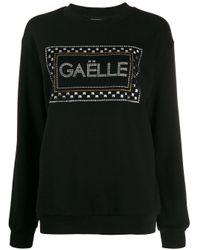Gaëlle Bonheur Black Embellished Logo Jumper