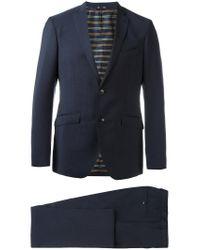 Etro Blue Newmileto Suit for men