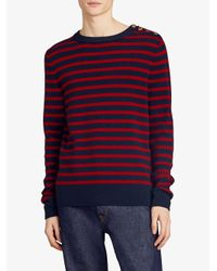 Burberry - Red Striped Sweater for Men - Lyst