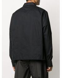 Camicia a righe frontali di Our Legacy in Black da Uomo