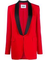 MSGM シングルジャケット Red