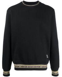 Felpa con applicazione di Versace Jeans in Black da Uomo