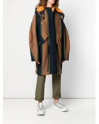 Sonia Rykiel ストライプ フーデッドコート Multicolor