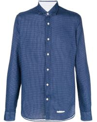 Long-sleeve fitted shirt Tintoria Mattei pour homme en coloris Blue