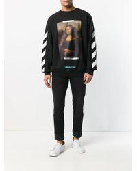 Off-White c/o Virgil Abloh Black Monalisa Sweatshirt for men