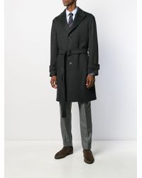 Lardini Black Single Breasted Coat for men