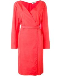 Nina Ricci Pink Belted Wrap Dress
