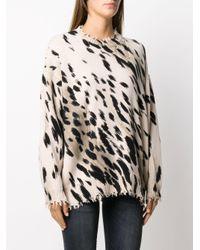 R13 Cheetah プルオーバー Multicolor