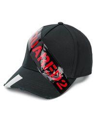 Casquette à patch logo DSquared² pour homme en coloris Black