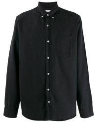 Camicia denim di NN07 in Black da Uomo
