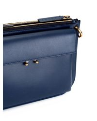 Marni Blue Pocket Shoulder Bag