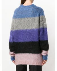 Acne - Blue Albah Striped Sweater - Lyst