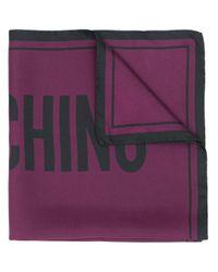 Moschino ロゴプリント スカーフ Purple