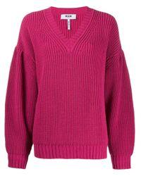 MSGM チャンキーニット セーター Pink