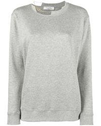 Valentino Gray Necklace Collar Sweatshirt