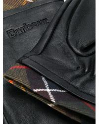Guanti tartan di Barbour in Black