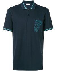 Versace Blue Short Sleeved Polo Shirt for men