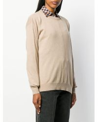 Long-sleeve fitted sweater Brunello Cucinelli en coloris Natural