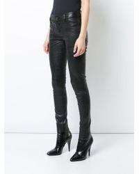 RTA Black Distressed Leather Pants