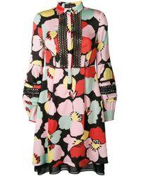 Robe-chemisier à fleurs Talbot Runhof en coloris Pink