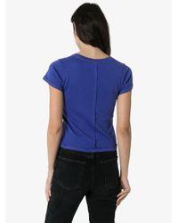 Eckhaus Latta ロゴプリント Tシャツ Blue