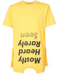 メンズ Mostly Heard Rarely Seen Should Be Higher Tシャツ Yellow