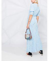 Rixo フローラル ドレス Blue