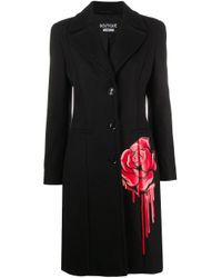 Boutique Moschino フローラル シングルジャケット Black