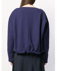 Marni バイカラー スウェットシャツ Blue