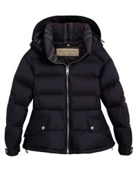 Burberry - Blue Detachable Hood Puffer Jacket - Lyst
