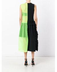 Paskal Black Sheer Neon Detail Dress