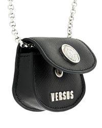 Versus  - Black Coin Bag Necklace - Lyst