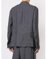 Blazer à boutonnière dissimulée Sartorial Monk pour homme en coloris Gray