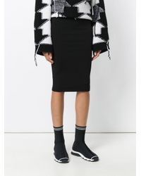T By Alexander Wang - Black Pencil Skirt - Lyst