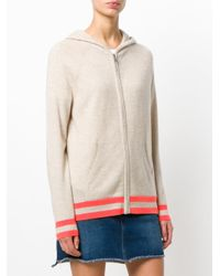 Chinti & Parker - Multicolor Striped Hem Zipped Hoodie - Lyst