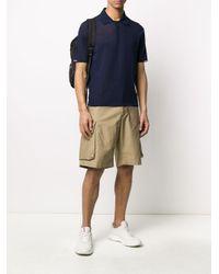メンズ Moncler ストライプ ポロシャツ Blue