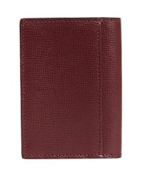 Burberry - Red London Folding Card Case for Men - Lyst