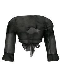 Ermanno Scervino Black Off-the-shoulder Blouse