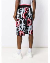 メンズ Dolce & Gabbana プリント ショーツ Gray