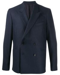 PS by Paul Smith Blue Double Breasted Blazer for men