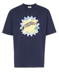 Camiseta con estampado de limones Maison Kitsuné de hombre de color Blue