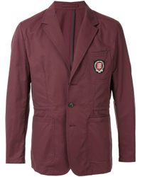 Blazer con logo bordado Kent & Curwen de hombre de color Red