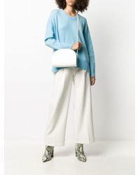 A.P.C. White Half-moon Shoulder Bag