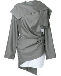 Vestito con design a più strati di Moohong in Gray
