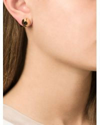 Lara Bohinc Metallic 'eye' Stud Earrings