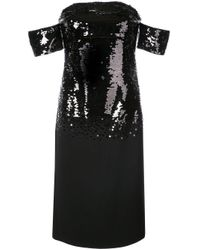 Sachin & Babi Galiana スパンコール ドレス Black