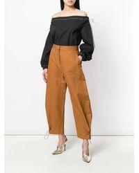 Stella McCartney Brown Ballon Leg Trousers