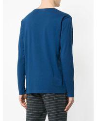 メンズ Kent & Curwen プリント ロングtシャツ Blue