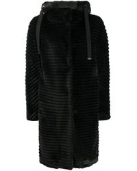 Шуба Из Искусственного Меха С Капюшоном Herno, цвет: Black