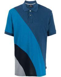 メンズ PS by Paul Smith カラーブロック ポロシャツ Blue